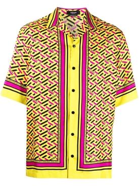 INFORMAL FOULARD PRINT MONOGRAM SHIRT yellow and multicolor