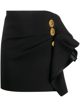 Gathered ruffle mini skirt