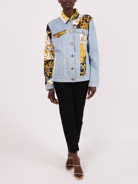 Light Blue Baroque Denim Jacket
