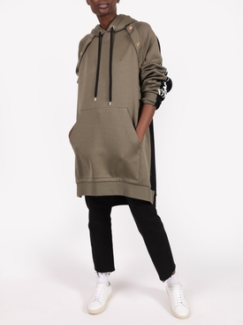 Khaki Green and Black Hoodie