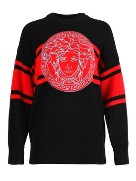 Black and red Medusa Knit