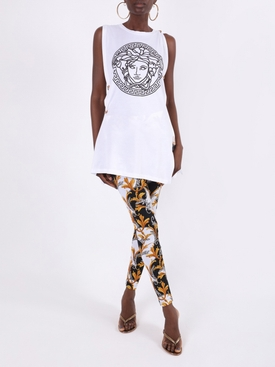 White and black Medusa head tank top