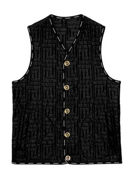 Greca print vest BLACK
