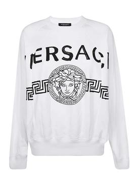 White and black logo sweatshirt