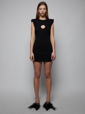cut-out detail mini dress, black