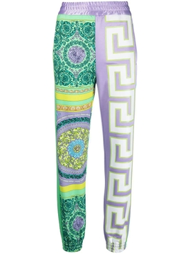 Barocco mosaic print trousers