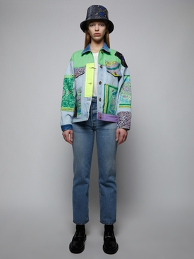 Mosaic Patchwork Denim Jacket