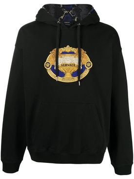 La Coupe Des Dieux embroidered motif hoodie BLACK