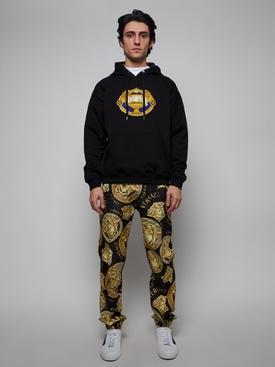 La Coupe Des Dieux embroidered motif hoodie BLACK