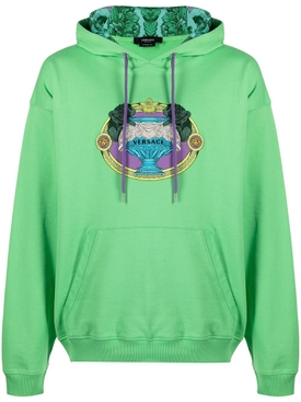 La Coupe Des Dieux embroidered motif hoodie MINT