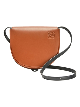 HEEL DUO BAG, DARK TAN BLACK