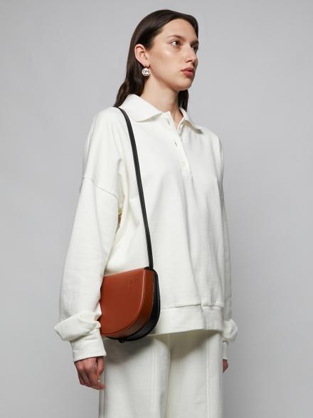 Loewe Heel Duo Bag, Dark Tan Black