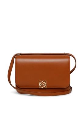 Silk Calfskin Goya Bag Tan Brown