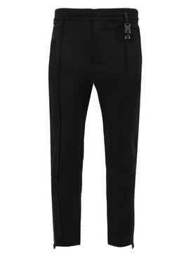 Black buckle detail track pant