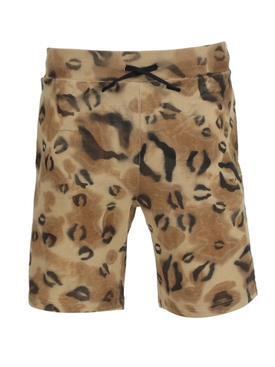 Leopard print sweat shorts