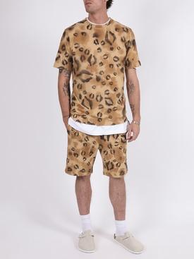 Leopard print sweat shorts