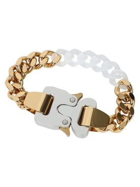 Gold Metal and nylon chain bracelet