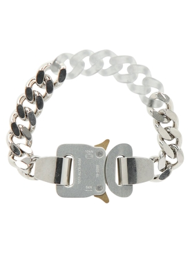 Silver Metal and nylon chain bracelet