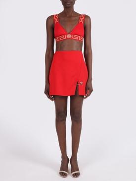 Logo-trim Bikini Top RED