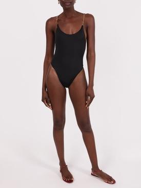 One-Piece Greca Strap Swimsuit