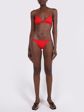 Greca Chain Detail Swim Top RED