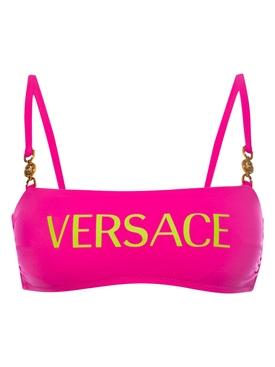 Bright pink logo bikini top