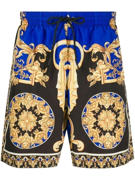 Royal blue print swim shorts