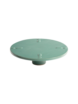 High Stand Ceramic Plate TURQUOISE