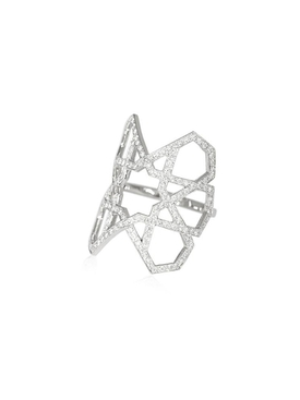 Arabesque Deco Pavé Diamond Ring