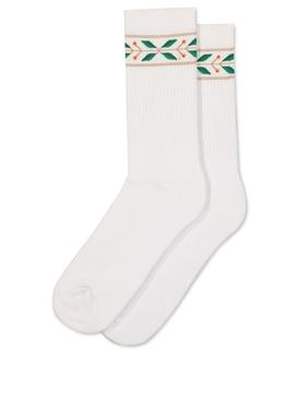 Laurel Ribbed Sport Sock White