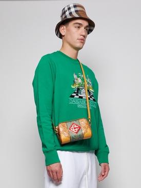 Monogram Cross Body Bag Caramel