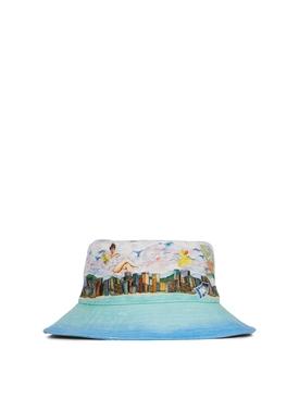 Voyage Dans De Nuages Denim Bucket Hat