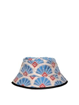 Casa Shell Jacquard Bucket Hat Blue