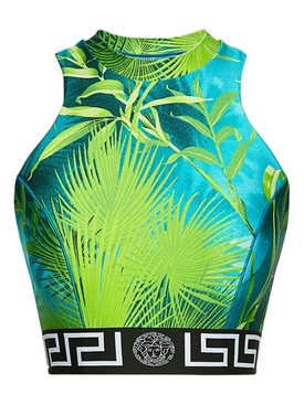 Versace - Jungle Racerback Crop Top - Women