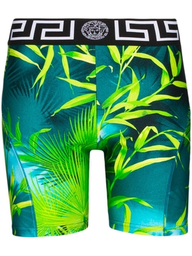 Jungle print bike shorts
