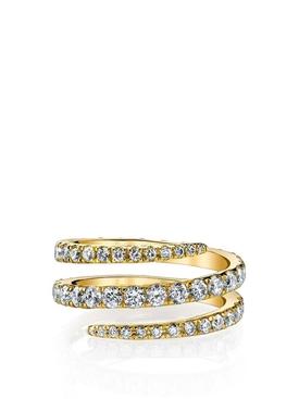 18K GOLD DIAMOND COIL RING