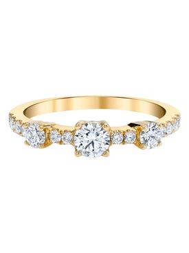 18k yellow gold diamond collins ring