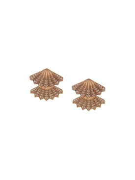 Double Diamond Fan Earrings