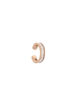 18K rose gold baguette diamond ear cuff