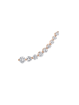 18kt Rose Gold Floating Diamond Single Earring