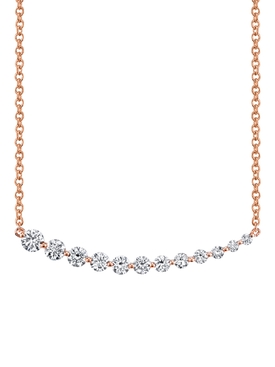 18k rose gold Graduated Diamond Necklace