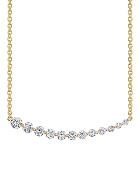 18k yellow gold Graduated Diamond Necklace