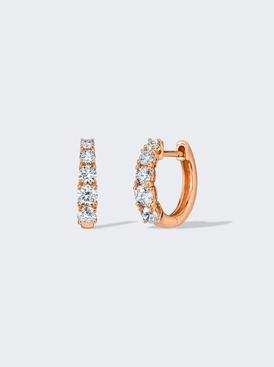 18K ROSE GOLD GRADUATED DIAMOND HUGGIES