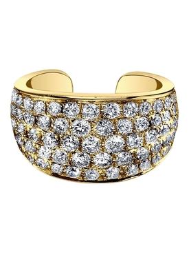 18k yellow gold diamond galaxy ear cuff