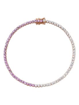 18k rose gold and sapphire hepburn bracelet