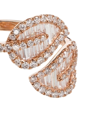 18k Rose Gold Medium Leaf Ring