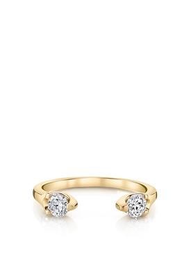 18K Yellow Gold Orbit Split Diamond Ring