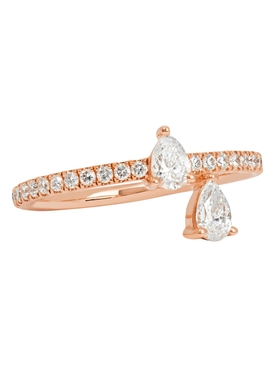18k rose gold princess ring