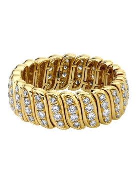 18k yellow gold diamond Zoe ring