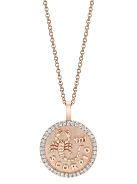 SCORPIO ZODIAC COIN PENDANT NECKLACE